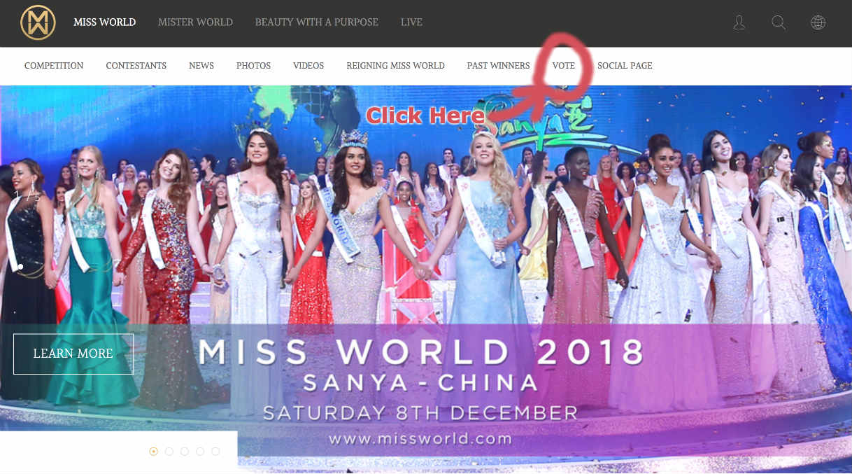How to Vote for Miss World Contestant 2018?
