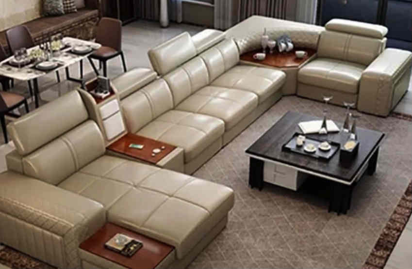 Living Room Real Genuine Leather Sofas Scam