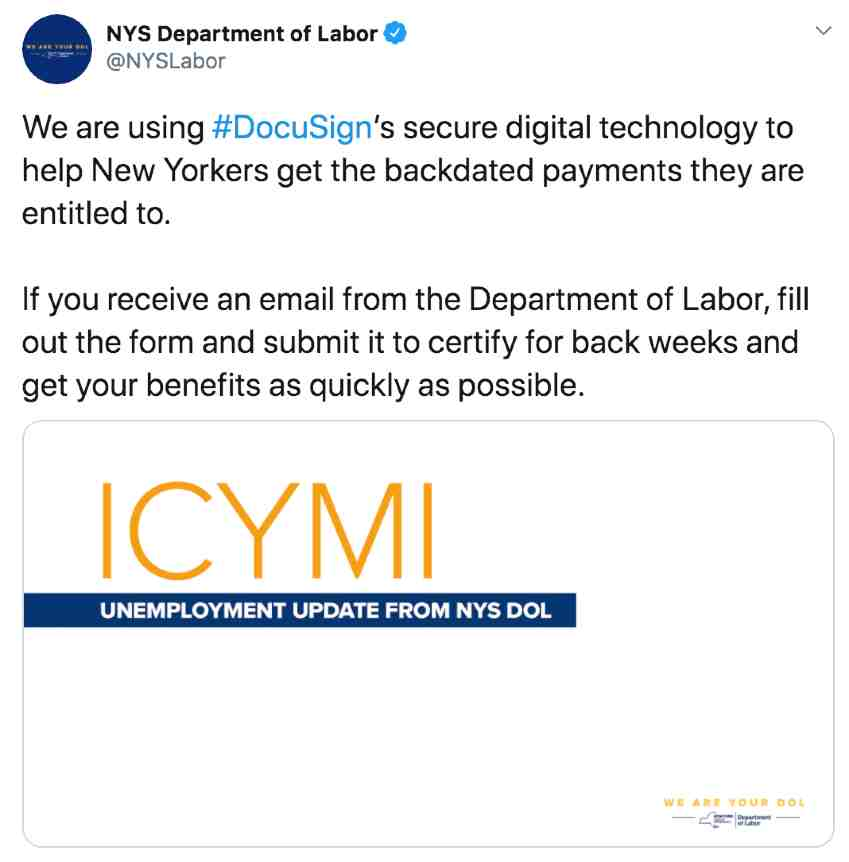 Email from New York State Department of Labor Scam or Legit?