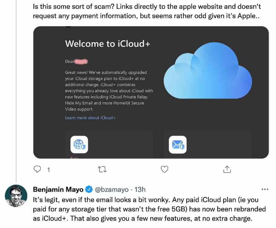 iCloud+ Free Upgrade Email Fake or Real nbsp| DeReviews